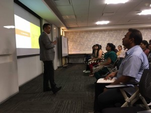 "Sunder Madakshira addressed employees at Sapient, Bangalore on the topic of ""Build & Leverage Your Personal Brand for Growth""."