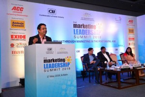 "Marketing at the Confluence of Storytelling and Automation"" at the CII Marketing Leadership Summit, Kolkata on the 17th May 2018."